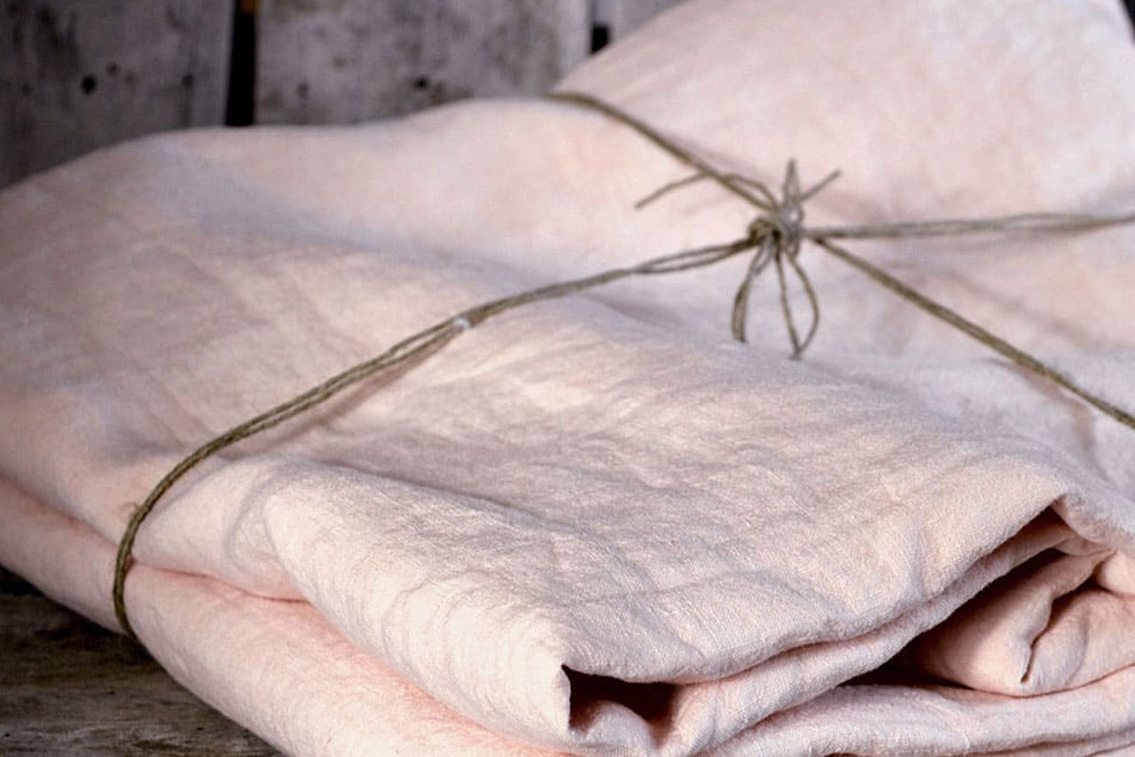 Ballerina Pink Linen Available in Double, King and Superking Sizes