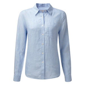 Saunton Linen Shirt Linen Light Blue