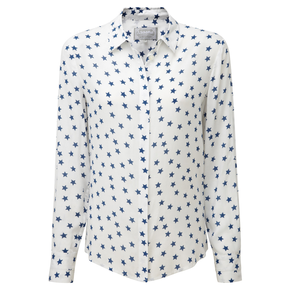 Schoffel Country Helmsley Shirt Star Print White/Blue