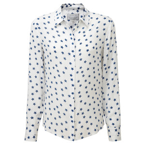 Helmsley Shirt Star Print White/Blue