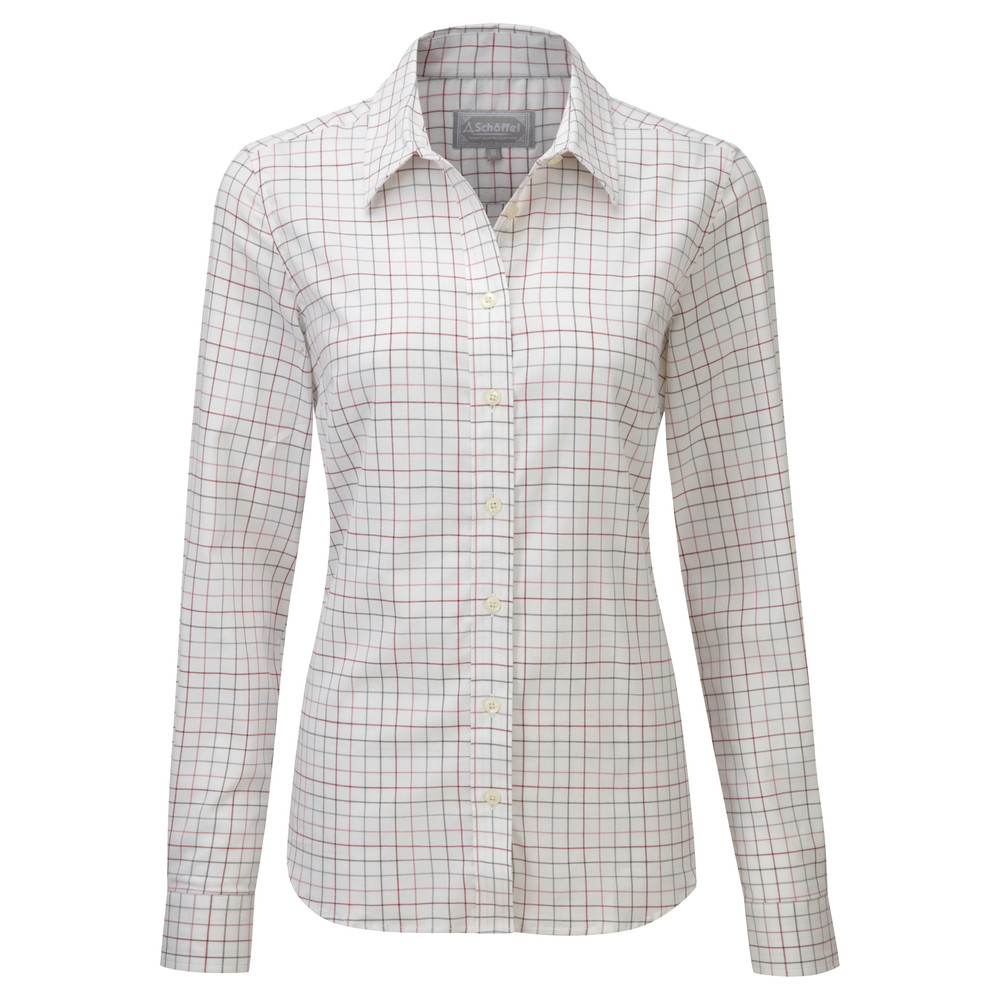 Schoffel Country Ladies Tattersall Shirt Pink/Green Check