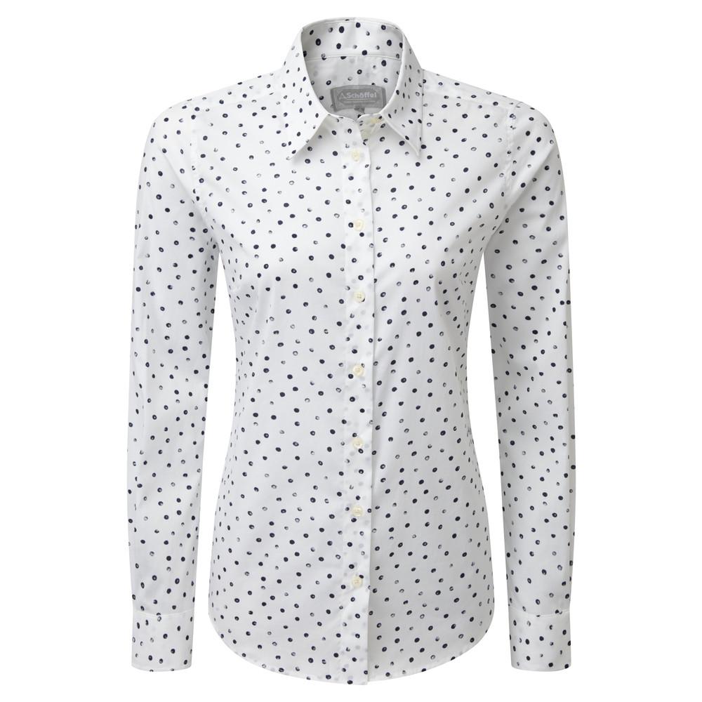 Schoffel Country Norfolk Shirt Navy Blot