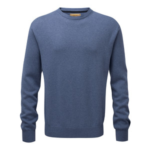 Schoffel Country Cotton Cashmere Crew in Stone Blue
