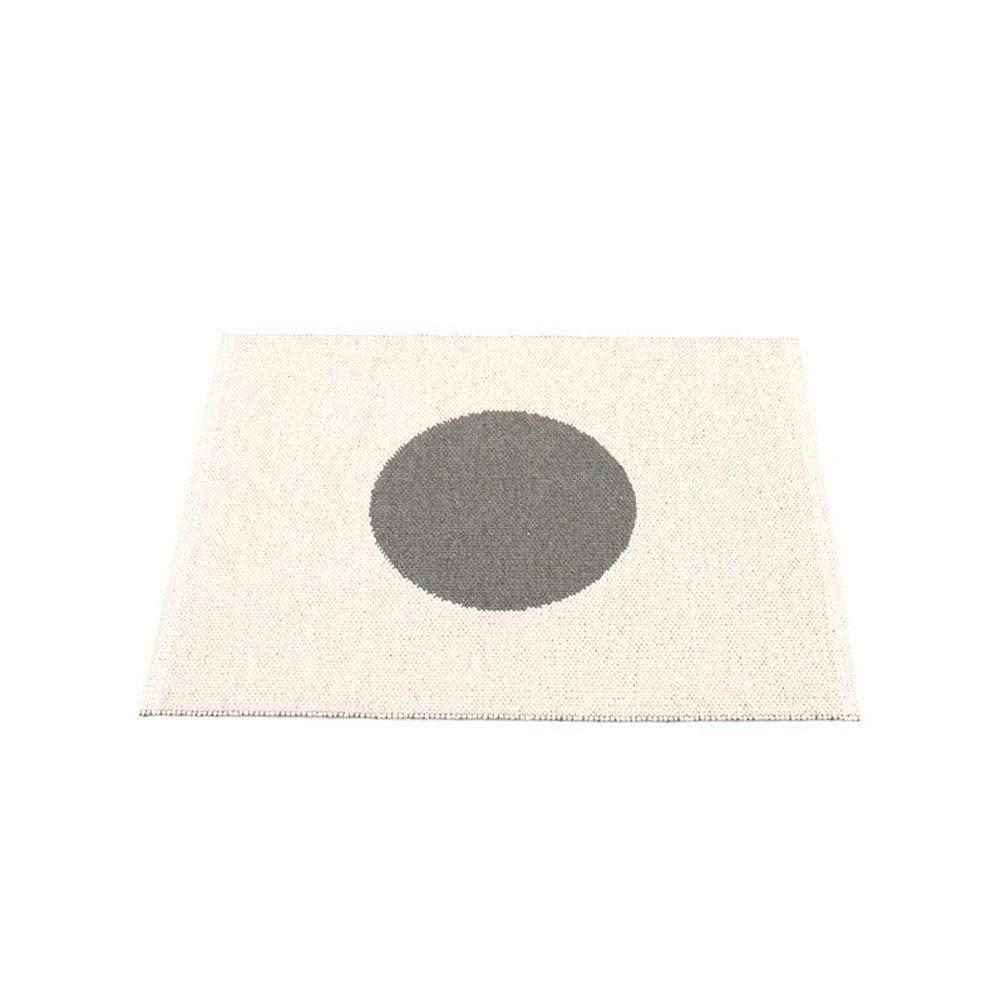 Pappelina Vera Small Reversible Rug Charcoal/Vanilla
