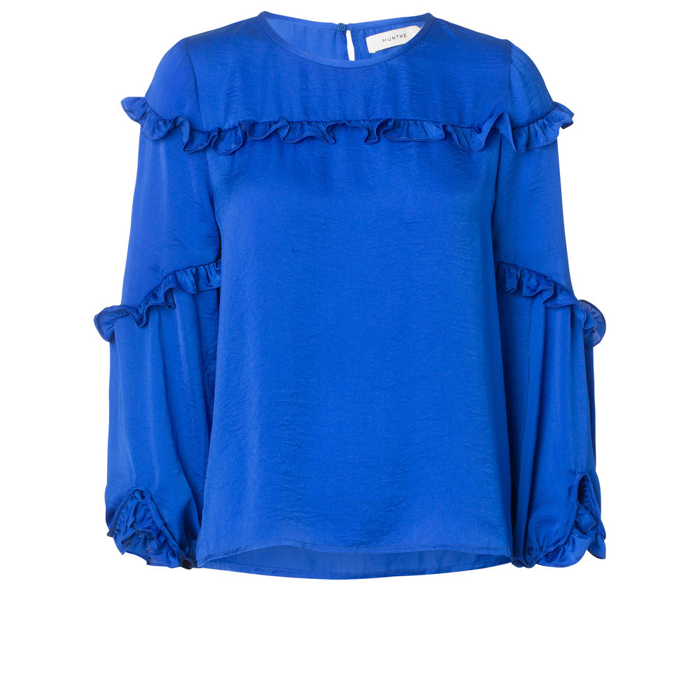 Munthe Philosophy Ruffle Top Blue