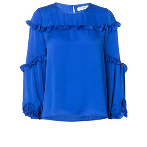 Philosophy Ruffle Top Blue