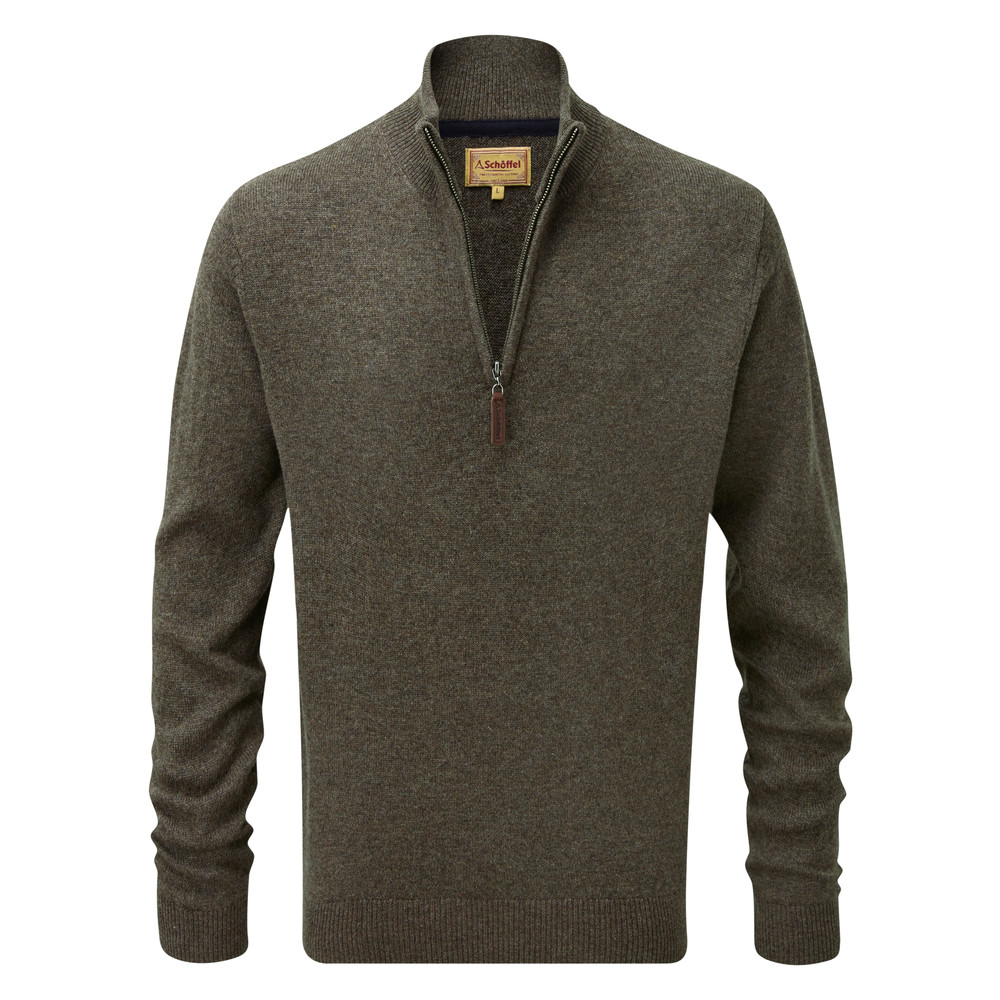 Schoffel Country Lambswool ¼ Zip Mole