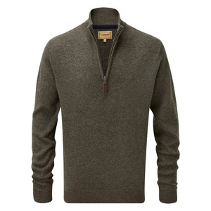 Schoffel Country Lambswool ¼ Zip in Mole