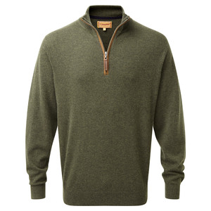 Schoffel Country Merino Cashmere 1/4 Zip in Loden Green