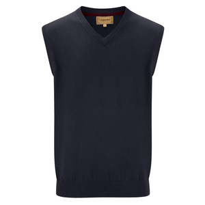 Cotton Cashmere Sleeveless Navy Blue