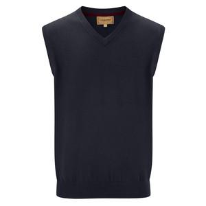 Cotton Cashmere Sleeveless Navy Blue
