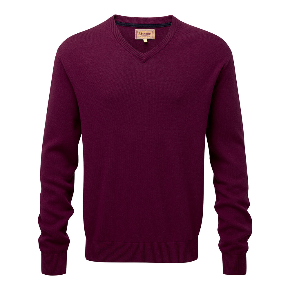 Schoffel Country Cotton Cashmere V Neck Fig