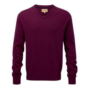 Cotton Cashmere V Neck Fig