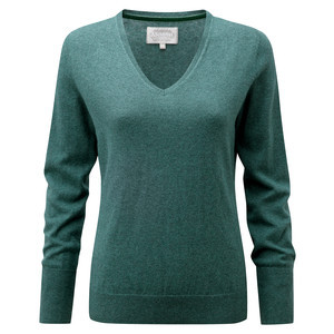 Cotton Cashmere V Neck Kingfisher