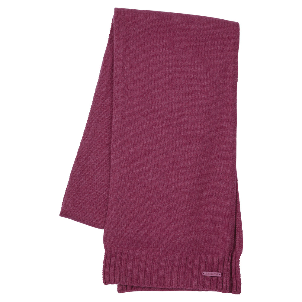 Schoffel Country Cashmere Scarf Raspberry
