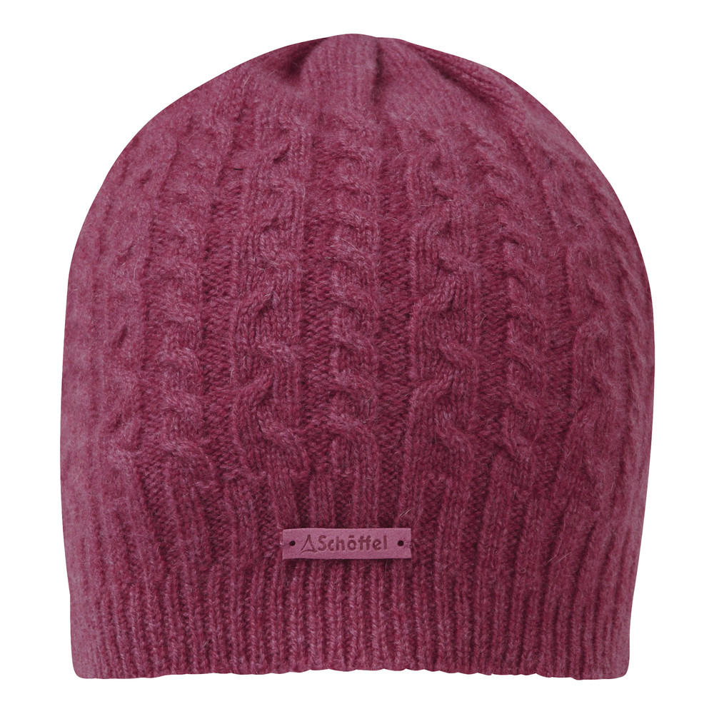 Schoffel Country Cashmere Cable Hat Raspberry