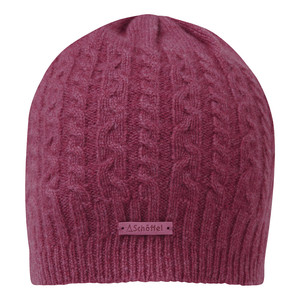 Schoffel Country Cashmere Cable Hat in Raspberry