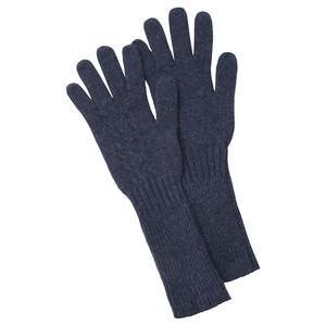 Cashmere Cable Gloves Indigo