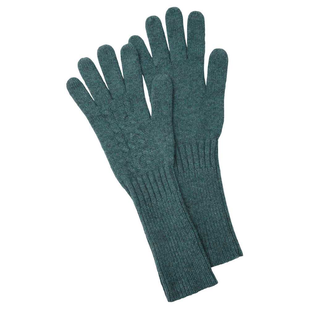 Schoffel Country Cashmere Cable Gloves Kingfisher