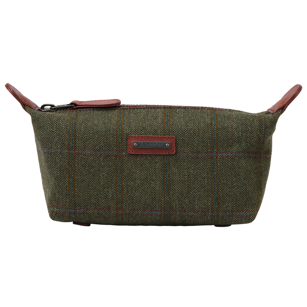 Schoffel Country Tweed Wash bag Sandringham Tweed