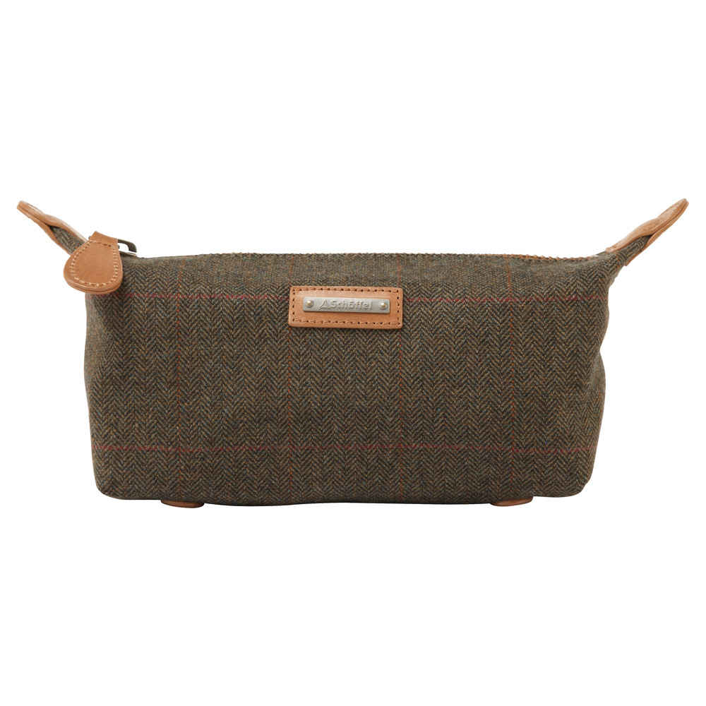 Schoffel Country Tweed Wash bag Windsor Tweed
