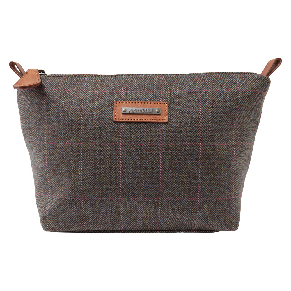 Schoffel Country Tweed Cosmetic Bag Cavell Tweed