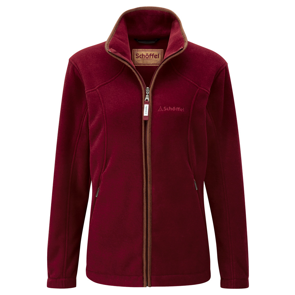 Schoffel Country Burley Ladies Fleece Ruby