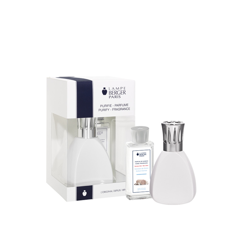 Lampe Berger Curve Gift Set White