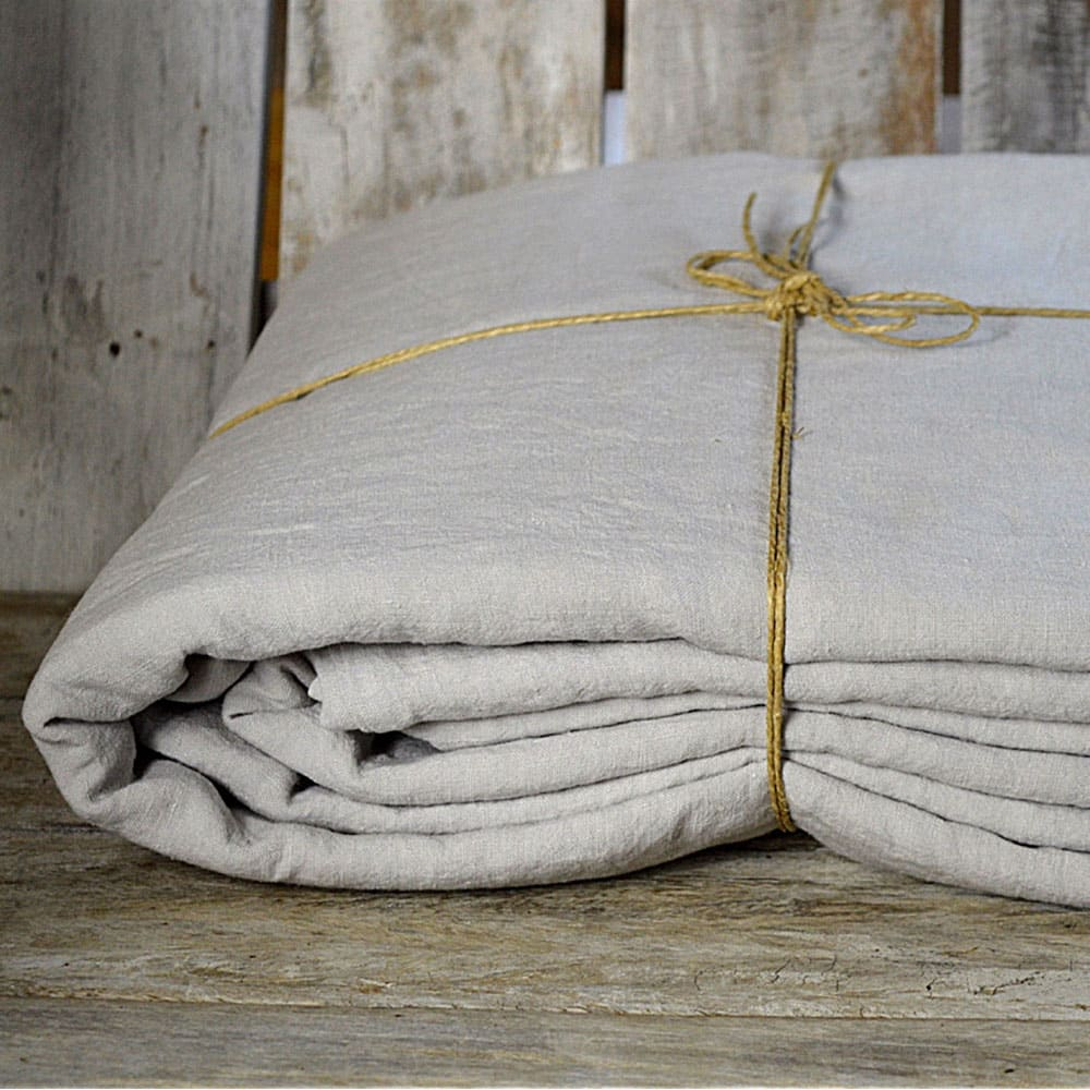 La Draperie  Fitted Sheet - Kingsize Pebble