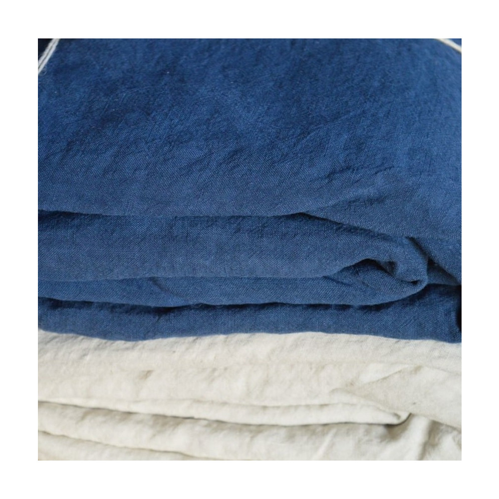 La Draperie  Fitted Sheet - Kingsize Indigo