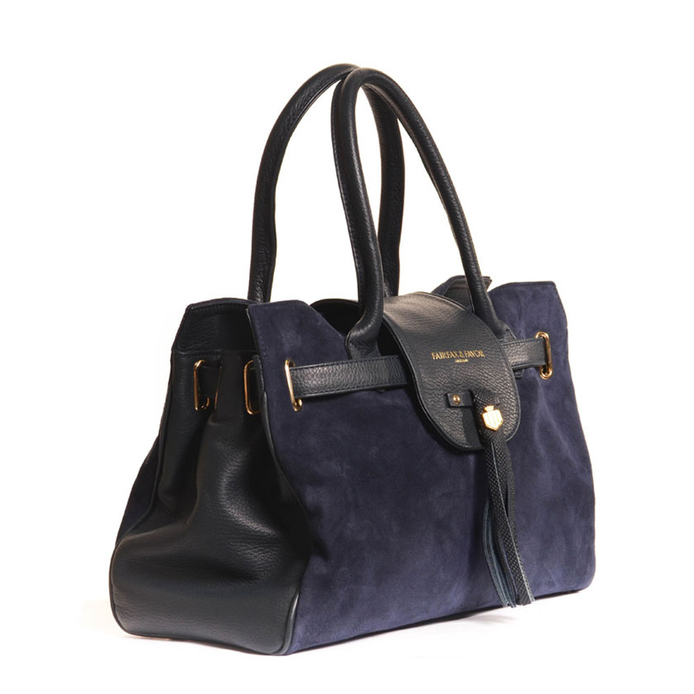 Fairfax & Favor The Windsor Handbag Navy Blue