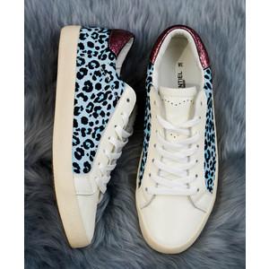 Pactole Leopard Pump White/Blue/Pink