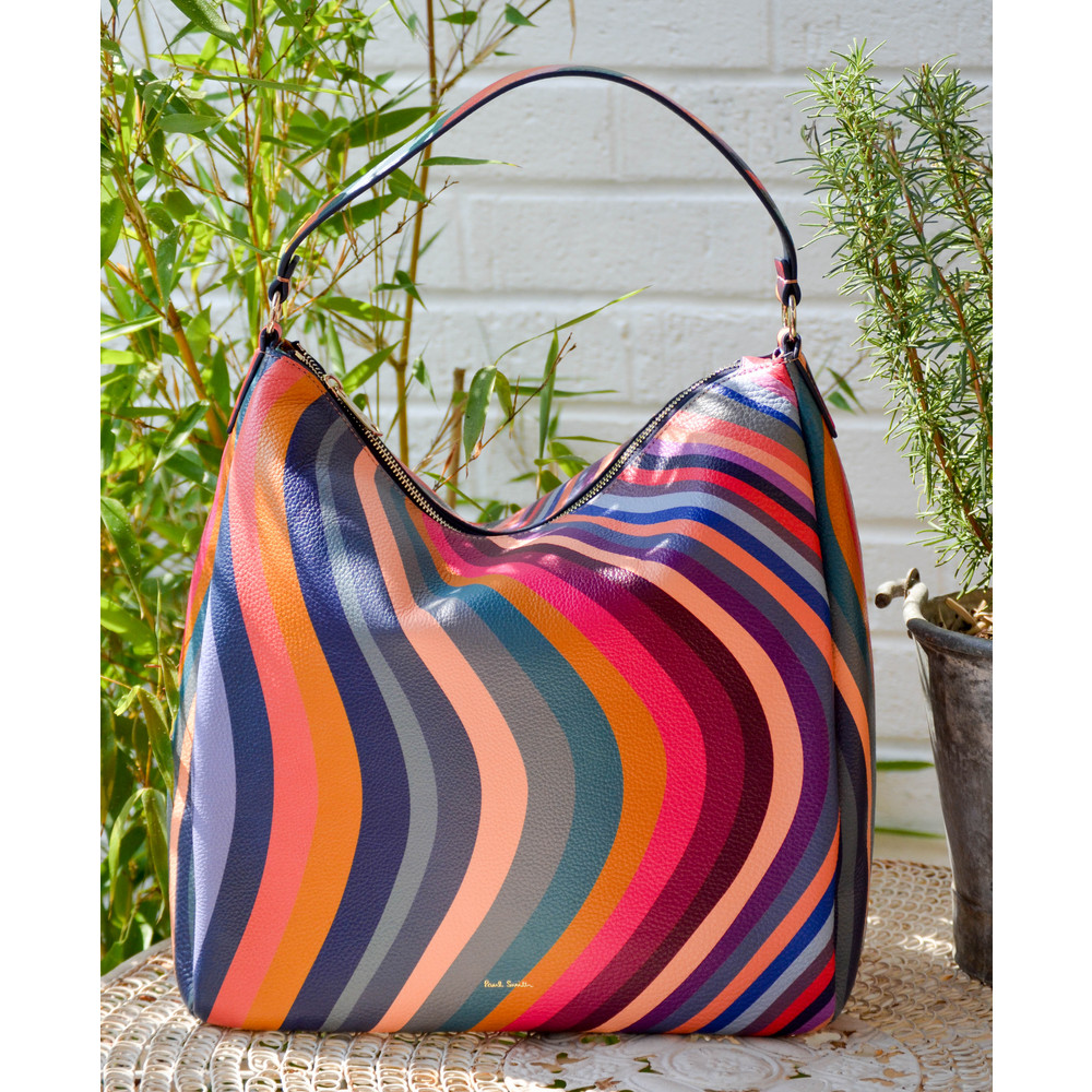 Paul Smith Accessories Swirl Hobo Bag Multicolour