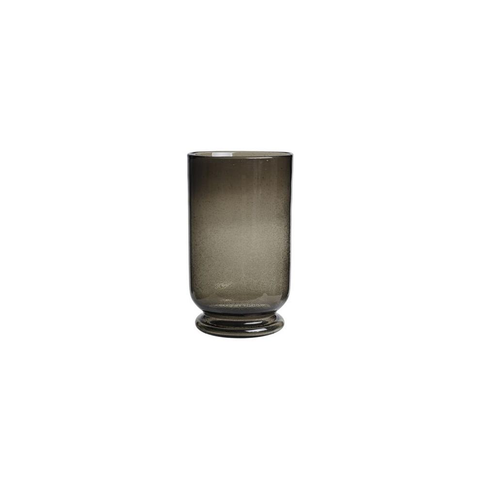 Cozy Living Glass Hurricane Smokey