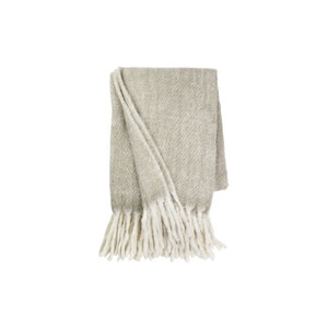 Mohair Throw Khaki Melange