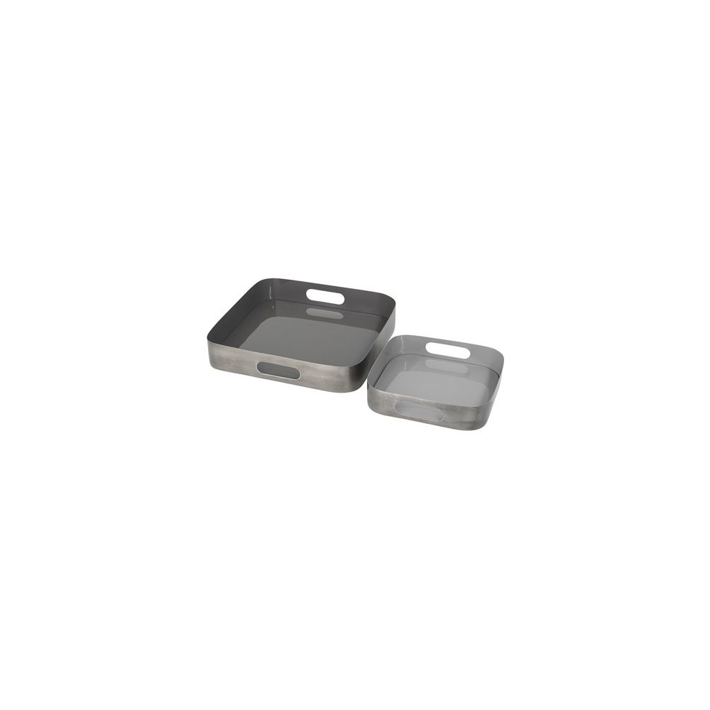 Cozy Living Orangeri Trays Set of 2 Grey