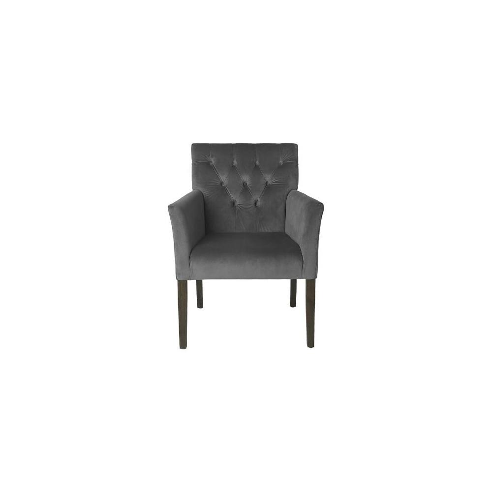 Cozy Living Velvet Chair Anthracite