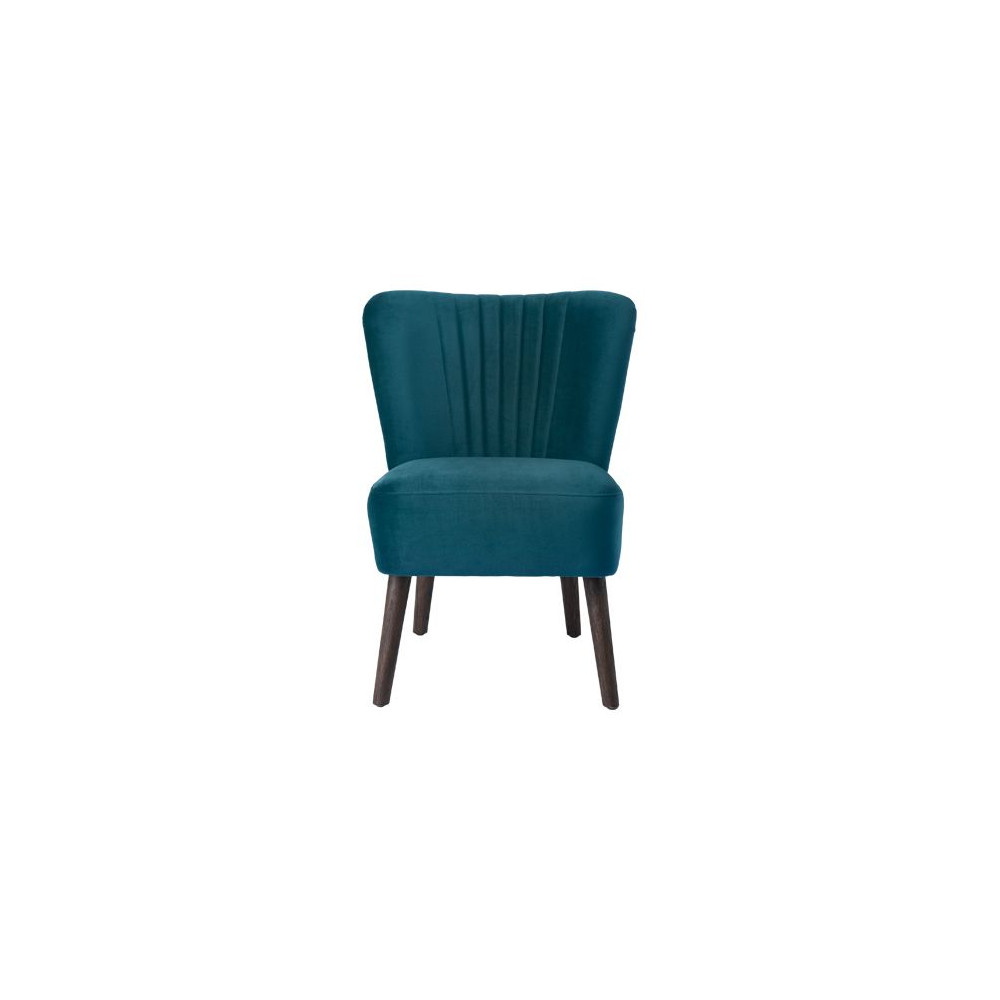 Cozy Living Velvet Lounge Chair Petrol