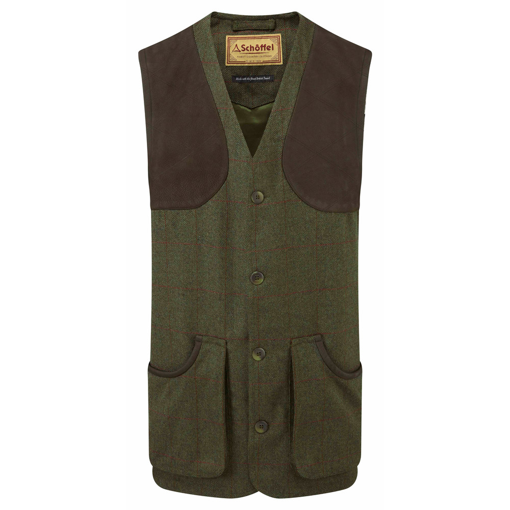 Schoffel Country Ptarmigan Tweed Waistcoat II Windsor Tweed