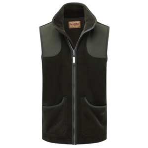 Gunthorpe Fleece Gilet Dark Olive
