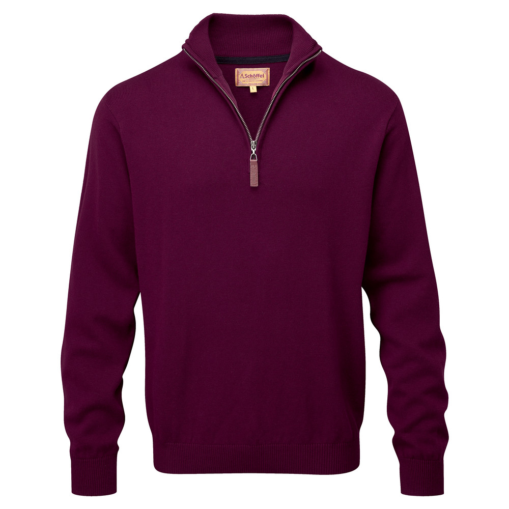 Schoffel Country Cotton Cashmere ¼ Zip Fig