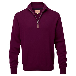 Schoffel Country Cotton Cashmere ¼ Zip in Fig