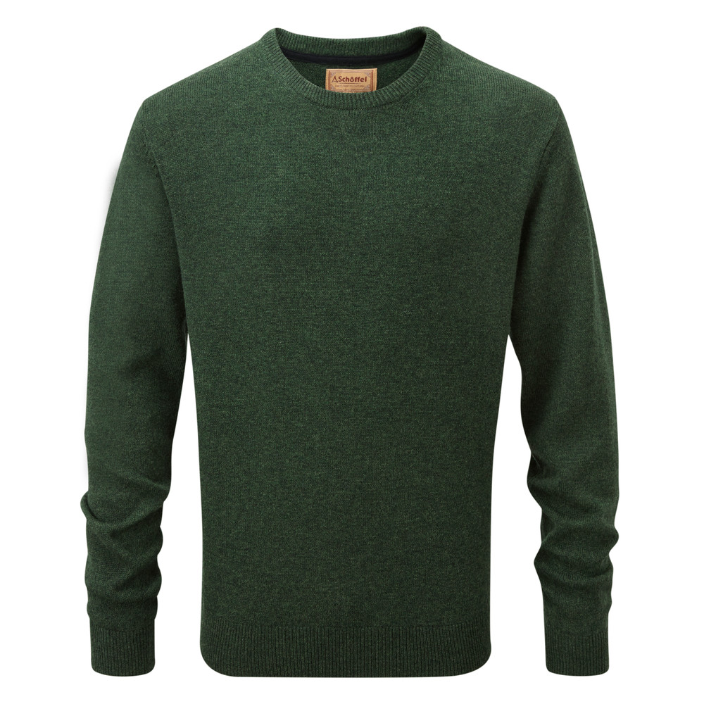 Schoffel Country Lambswool Crew Neck Forest