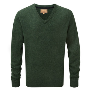 Schoffel Country Lambswool V Neck in Forest