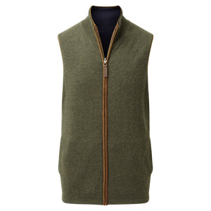 Schoffel Country Merino/Cash Gilet Reversible in Navy/Loden