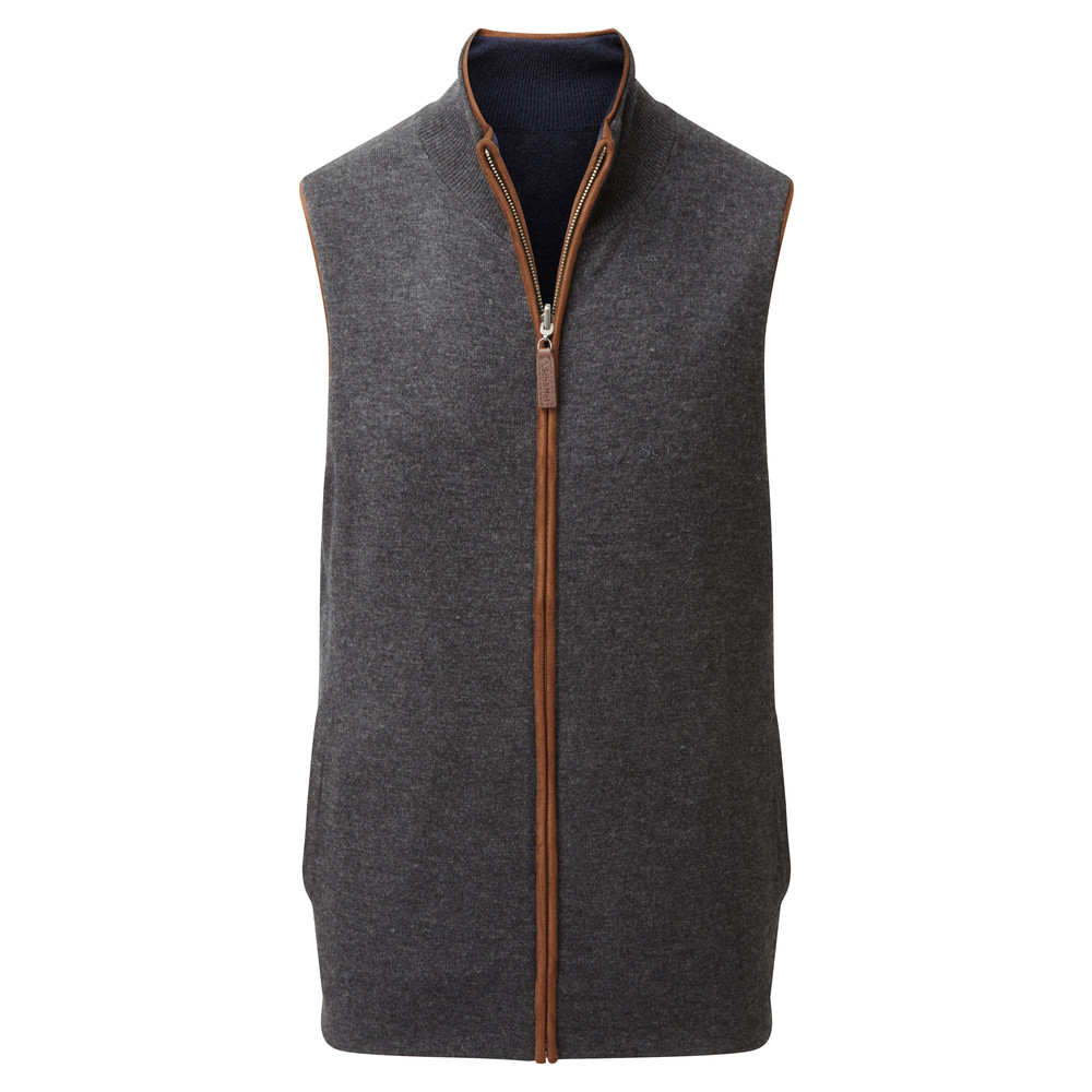 Schoffel Country Merino/Cash Gilet Reversible Navy/Charcoal