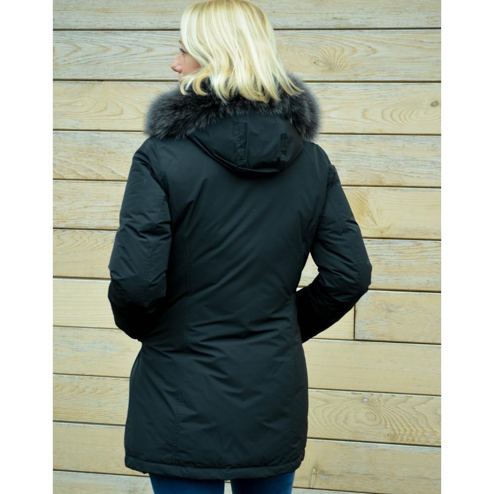 Woolrich Luxury Arctic Parka Fur Trim Hood Black