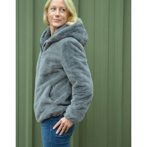 Oakwood Connect Teddy Coat Anthracite