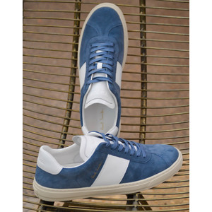 Levon Suede Trainer Blue/White