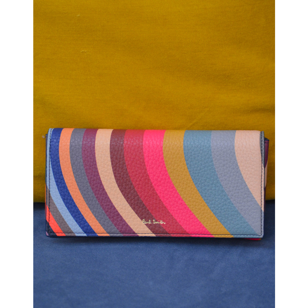 Paul Smith Accessories Trifold Swirl Purse Multicolour